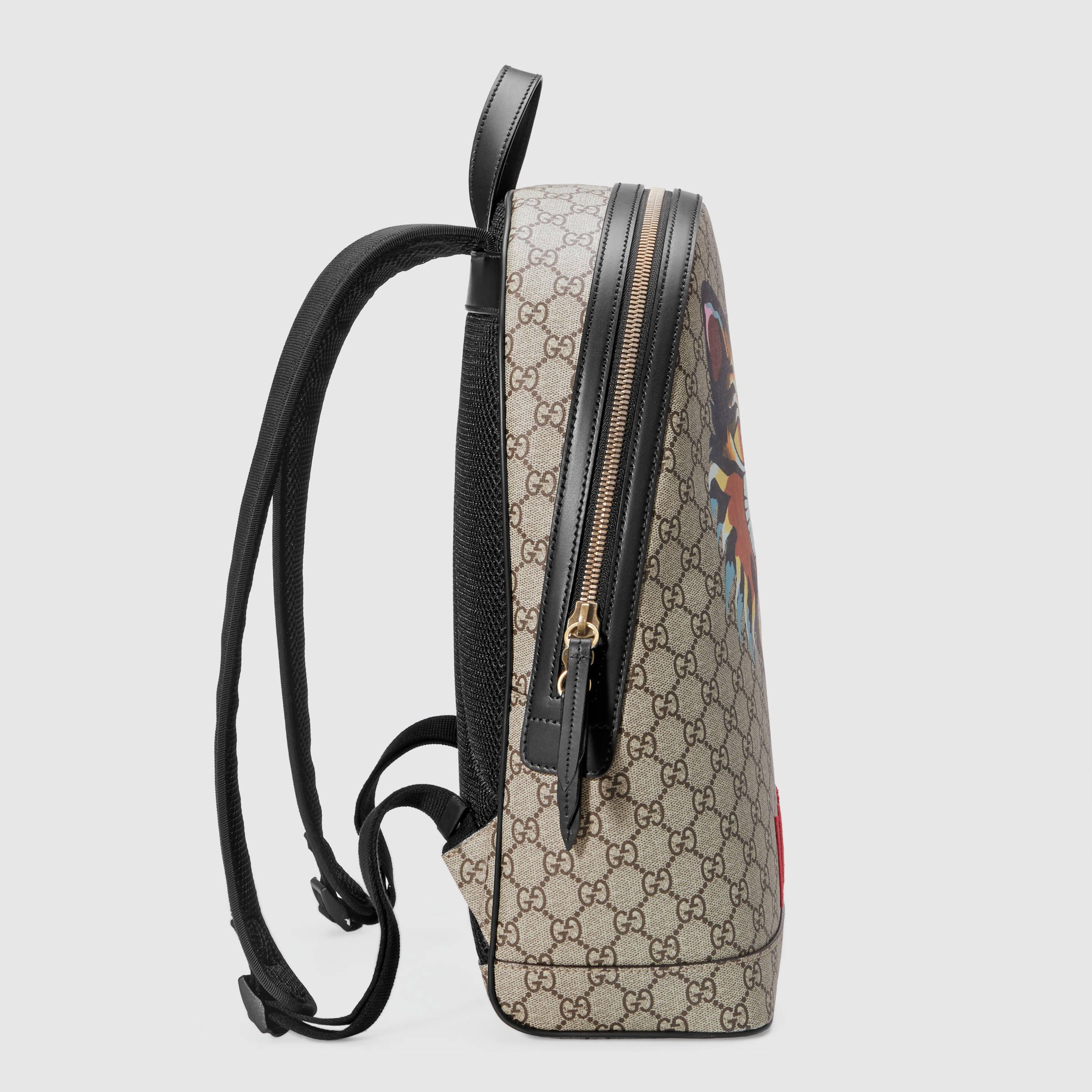 timeless design 138ed 89a4e Gucci アングリーキャット<br>GGスプリーム キャンバス<br ...