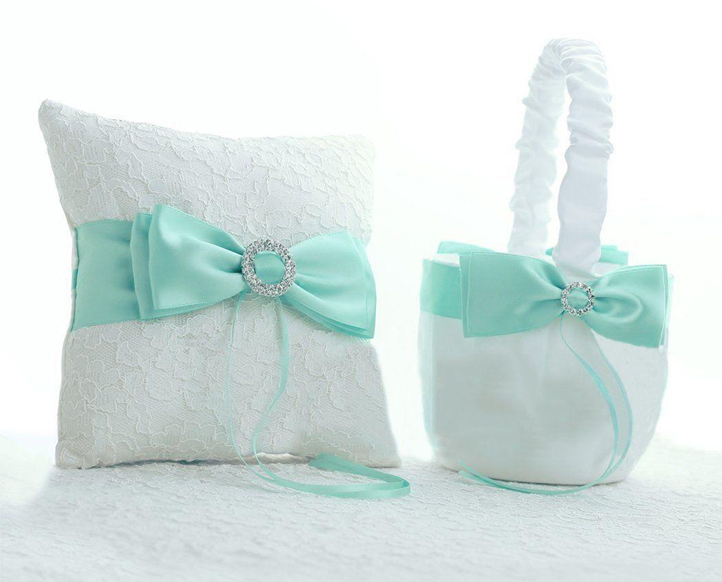 Amazon.com: Tiffany Blue Wedding Favor Heart Shaped Gift Ring Box ...
