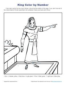 Sunday School Coloring Pages Joseph. Joseph Helped Pharaoh Bible Story Color By Number Page  by