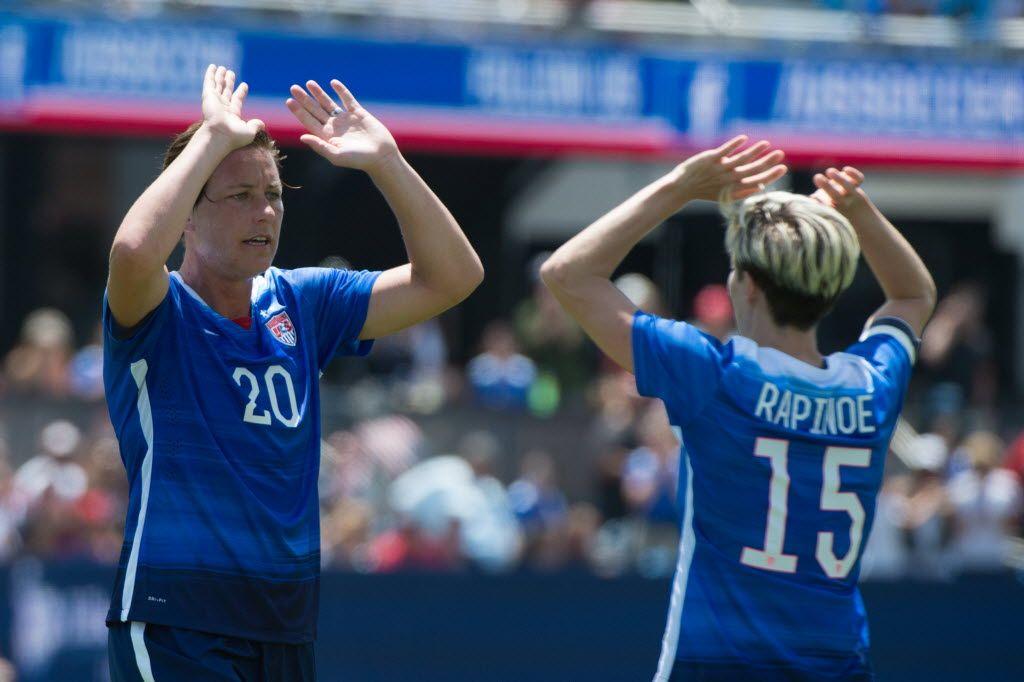 Abby Wambach and Megan Rapinoe, USA vs. Ireland, San Jose