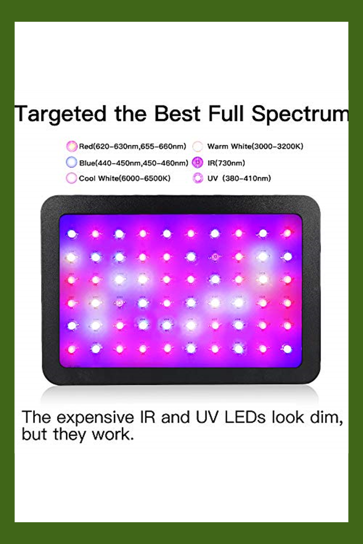 600w Led Grow Light Wakyme Full Spectrum Plant Light With Veg And Bloom Double Switch Thermometer Humidity Monitor Adjustable Rope Grow Lamp For Indoor Plan In 2020