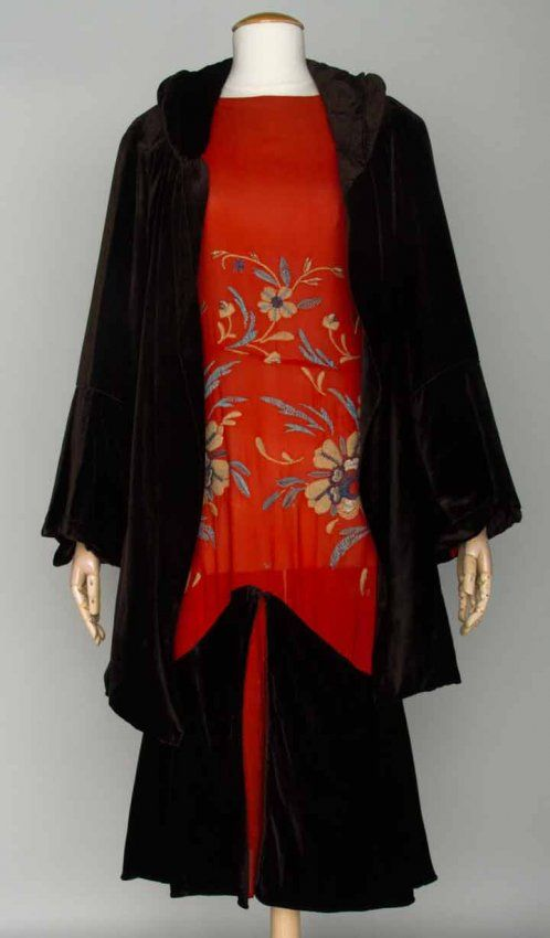 EVENING ENSEMBLE (with coat) LATE 1920's