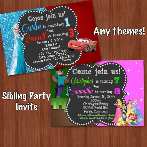 Sibling birthday invitation invite combine minecraft and cars sibling birthday invitation invite combine minecraft and cars stopboris Image collections
