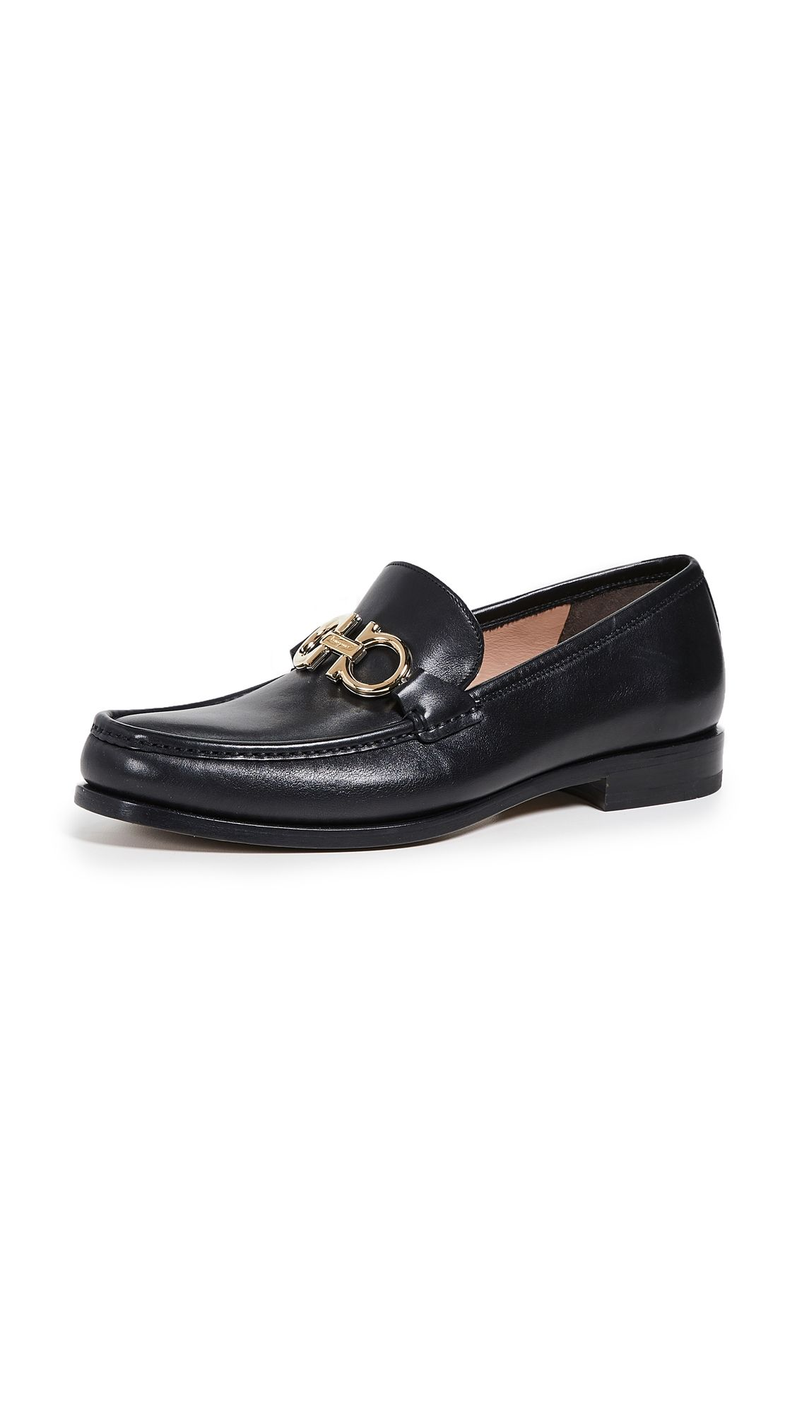 black bit loafers