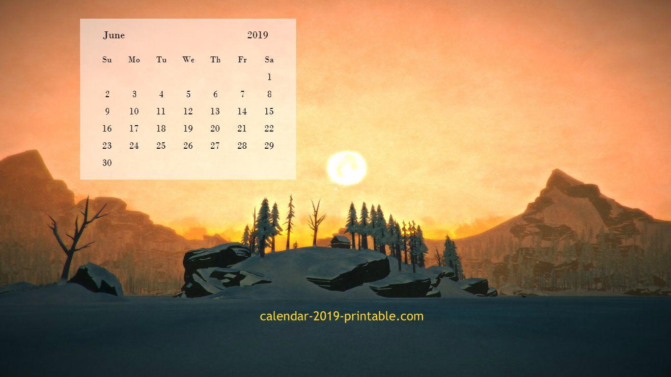 June 2019 Calendar Desktop Wallpapers June 2019 Calendar Desktop Wallpaper Calendar 2019 Calendar