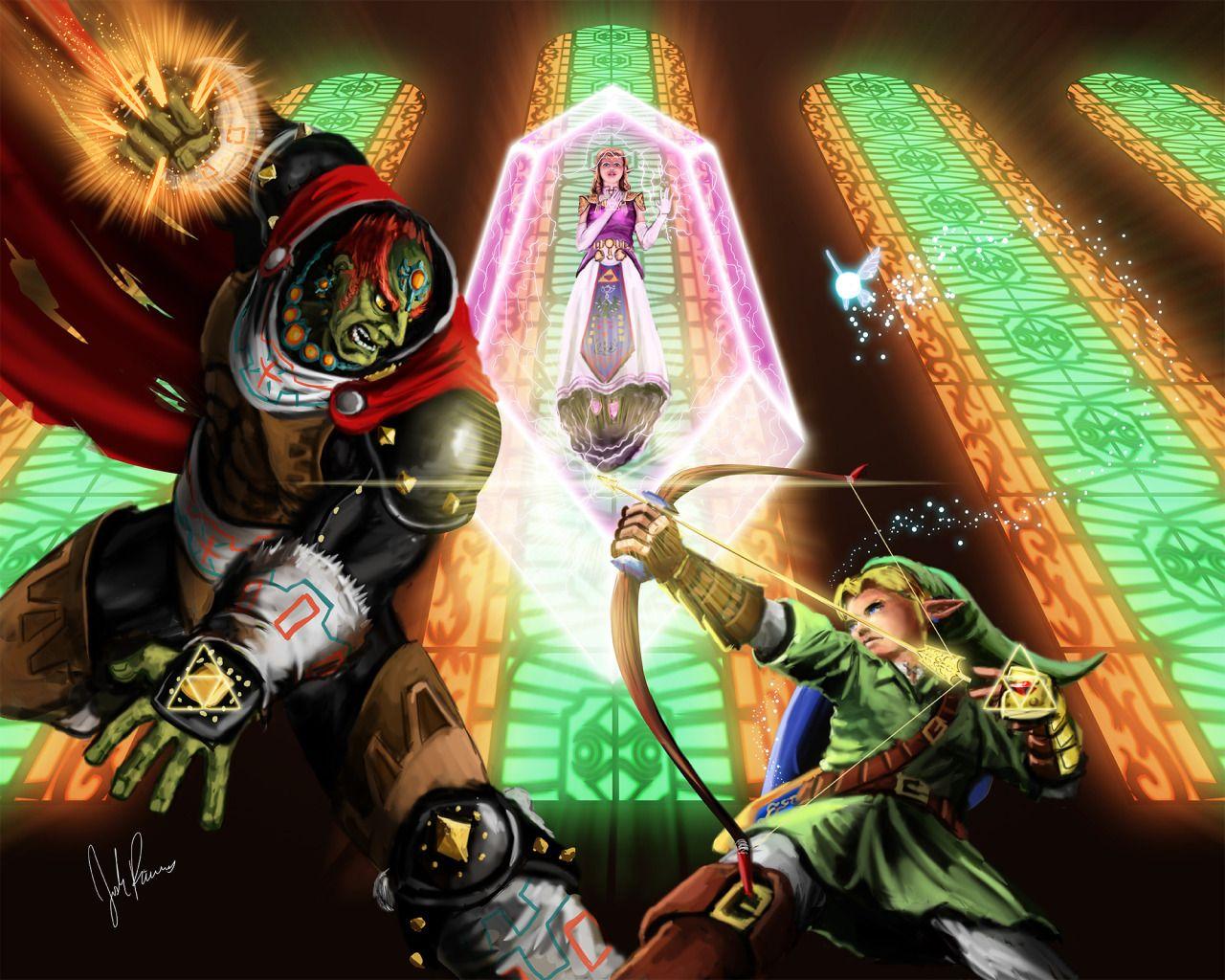 Link Vs Ganondorf By Josh Rivers Legend Of Zelda Zelda