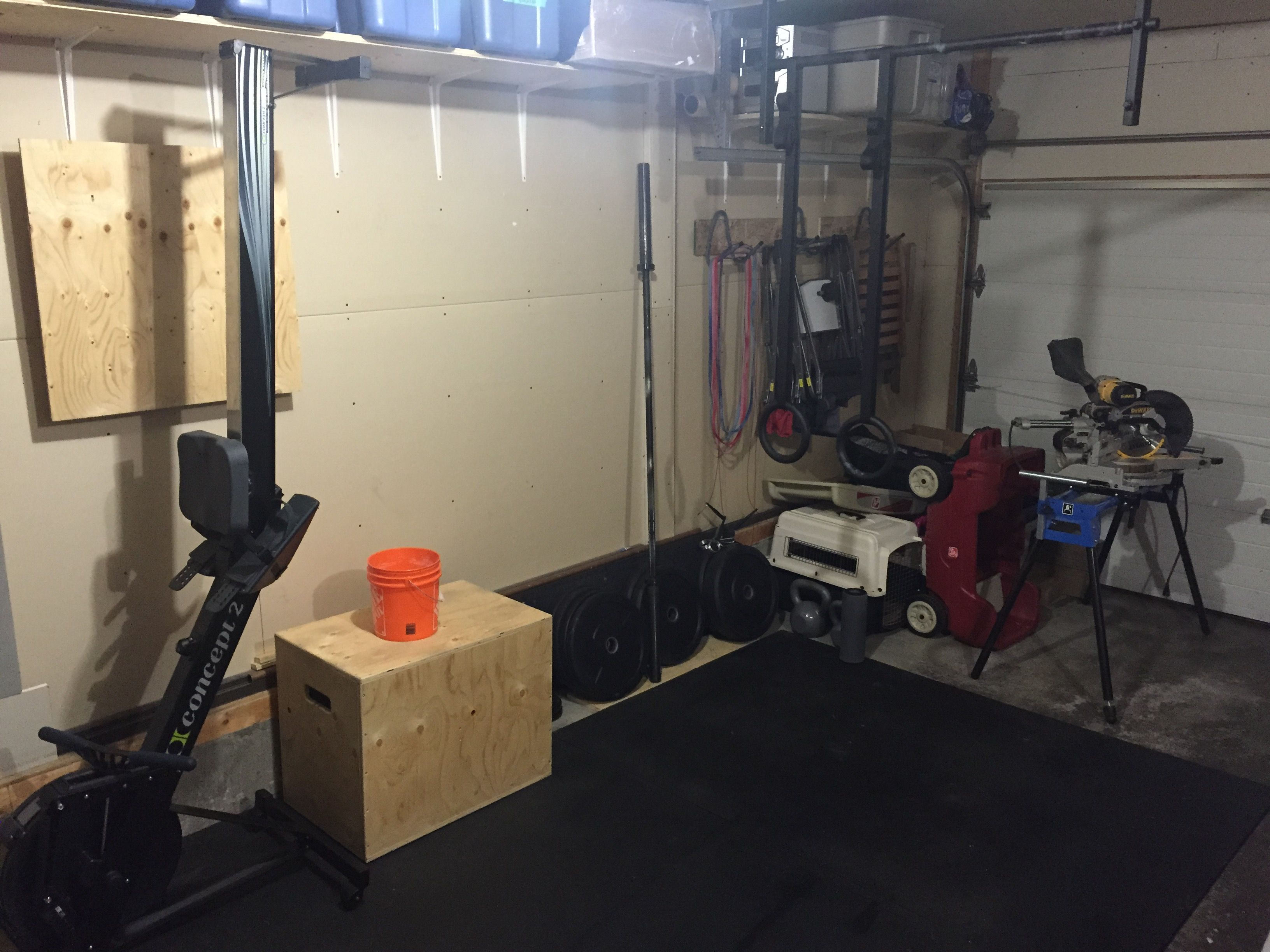 Garage gym is coming along nicely need to start looking at a