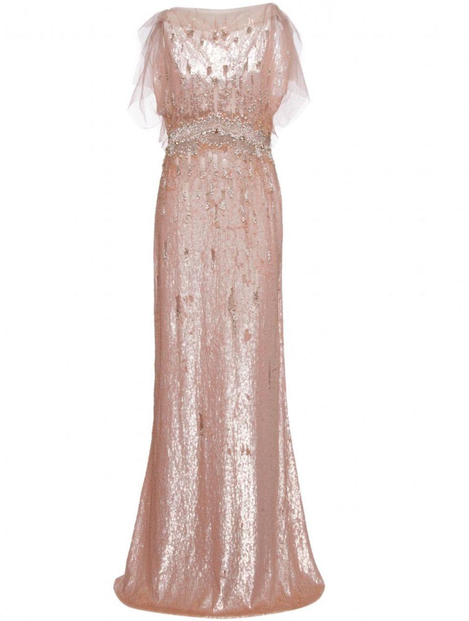 Jenny Packham Pearlescent Pink Sequin Gown | feminine | Pinterest ...