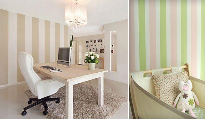 Un salón cálido y elegante | Paredes pintadas, Rayas y Salón