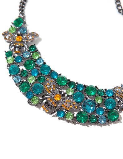 CRYSTAL BEES NECKLACE WITH GEMSTONES] - Accessories - Accessories - Woman - ZARA Romania