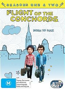 Flight of the Conchords Box Set.  $45.  http://www.jbhifionline.com.au/dvd/dvd-genres/comedy/flight-of-the-conchords-season-1-2/437491