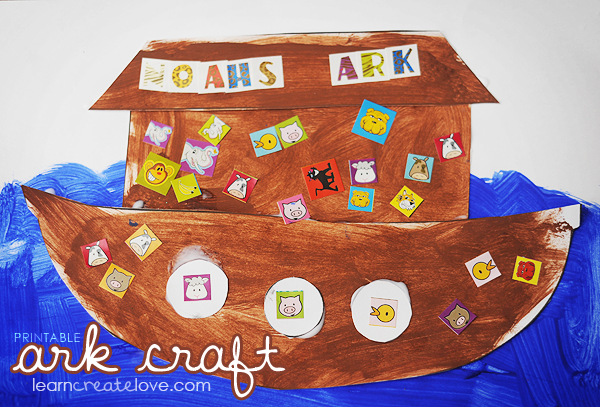 Printable noah 39 s ark craft crafts for The ark of craft