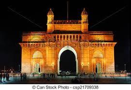 The Gateway of India, Mumbai, at night.