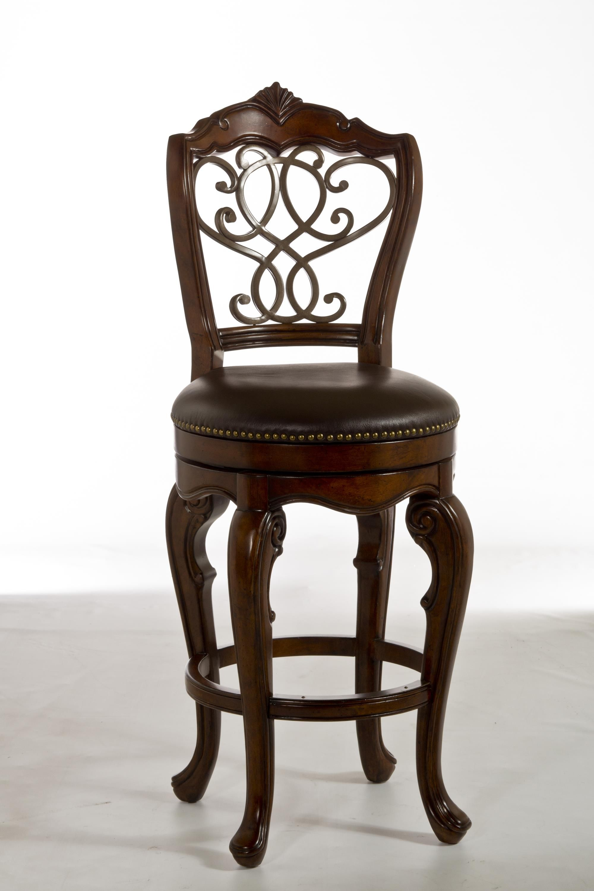 Astounding Wood Stools Burrell Swivel Counter Stool With Scroll Work By Ibusinesslaw Wood Chair Design Ideas Ibusinesslaworg
