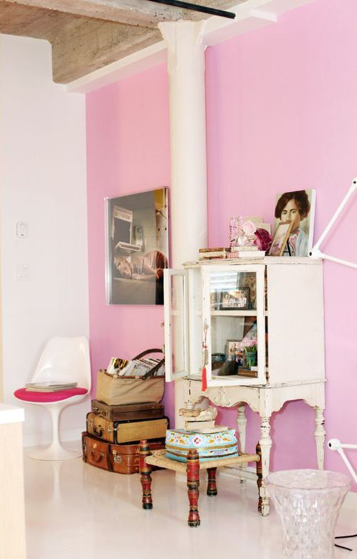 Vintage Bedroom: A whimsical and eclectic room with a mid-century ...