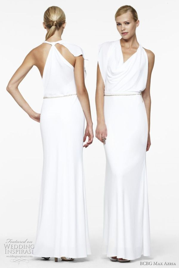 BCBG Max Azria Wedding Dresses 2011 | Max azria, Cowl neck and Gowns