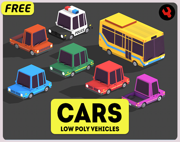 Pin by Quyến Nguyễn Ngọc on 3d model Low poly car, Low