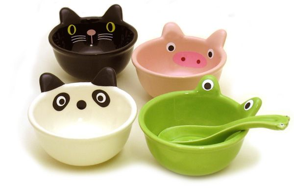 Tazas y accesorios ceramic animal cool stuff pottery for Vajilla animales