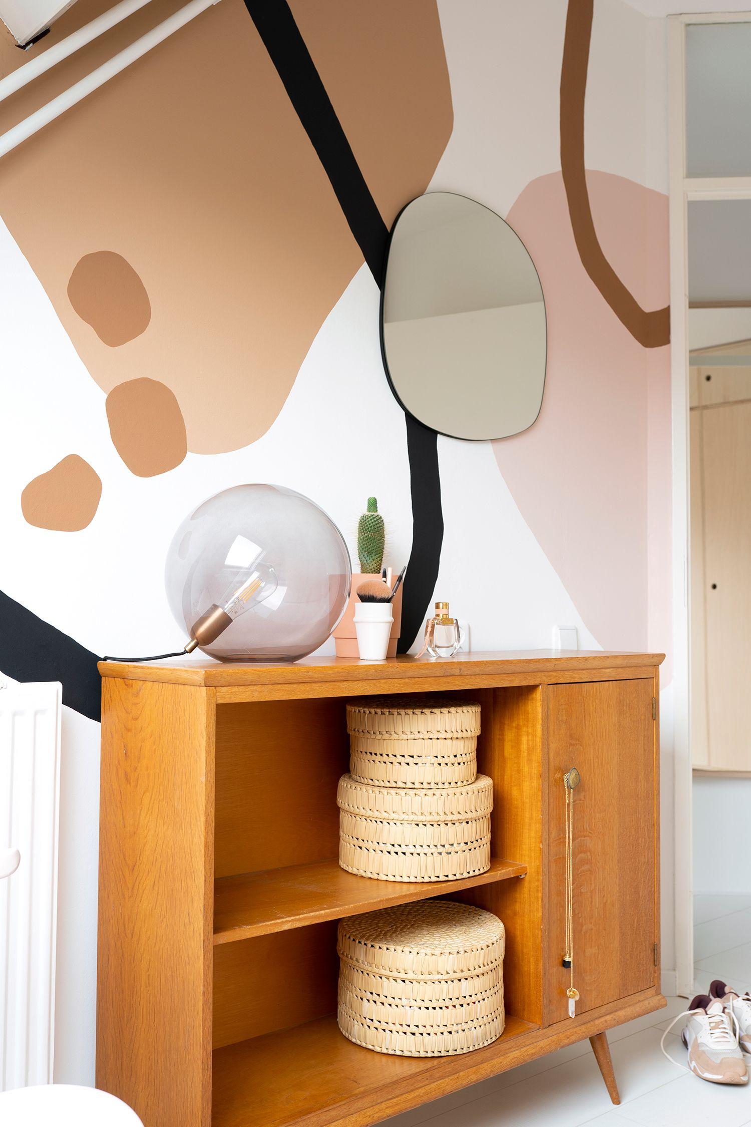 Muurschildering maken met abstracte vormen   Enter My Attic ...