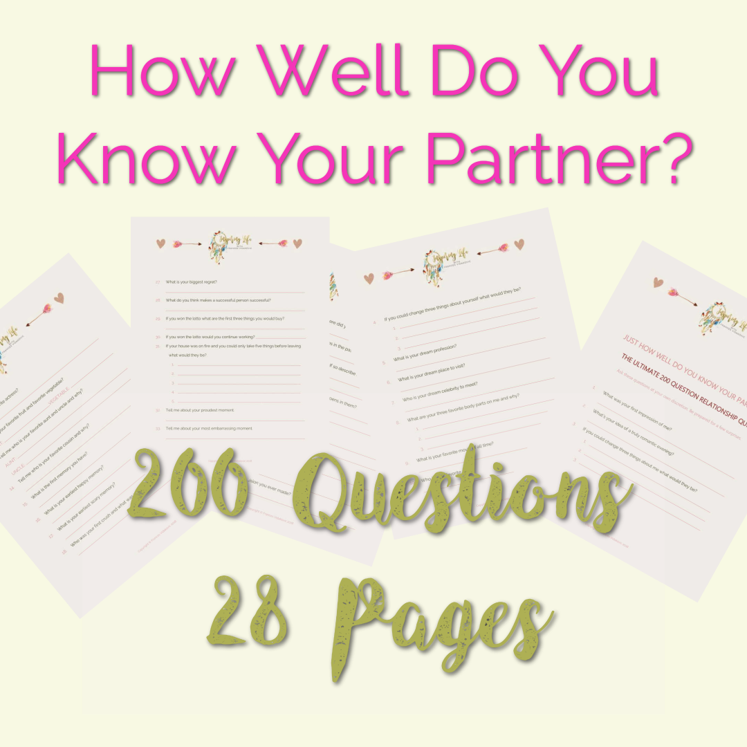 image about Printable Quizzes for Fun named Free of charge Connection Quiz Printable - 200 Concerns Towards Request Your
