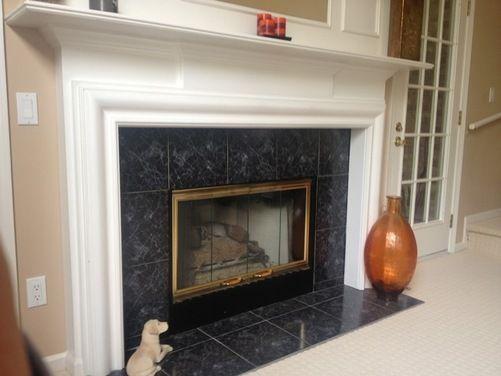 Marble Tile Fireplace Fireplace Fireplace Tile