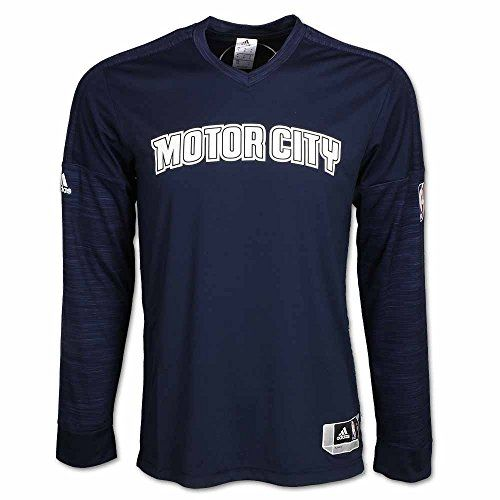buy online 5b744 84c08 Detroit Pistons Motor City LongSleeve Shooter Jersey Blue ...