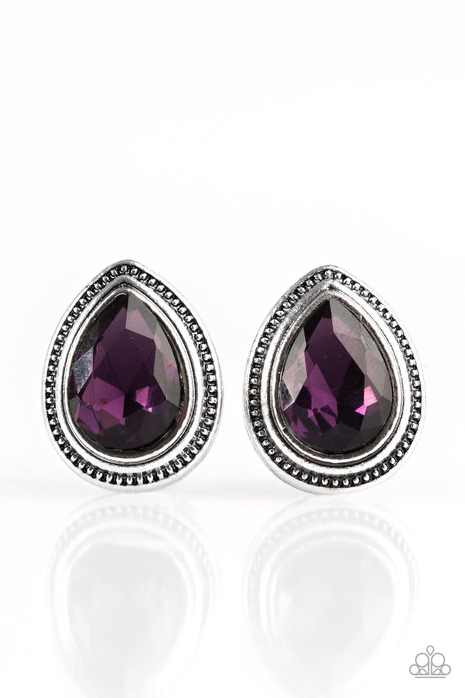 Beautiful Purple Teardrop Earrings 5 Paparazzi