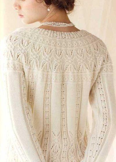 Lace Yoke Knitting Pattern : Hitomi Shida Couture, Patterns and Pattern library