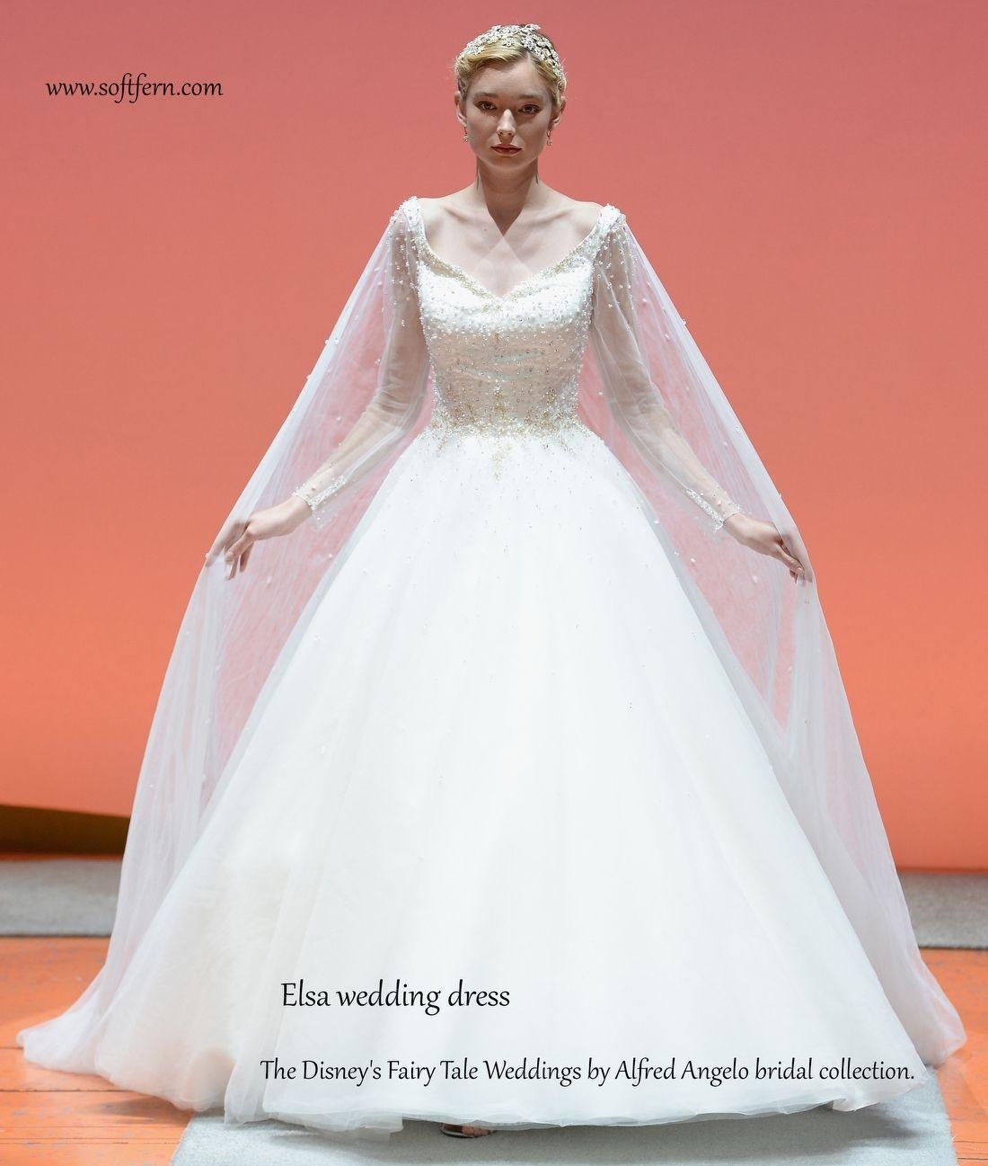 Elsa Wedding Dress The Disney S Fairy Tale Weddings By Alfred Angelo Bridal Collection Disney Wedding Dresses Elsa Wedding Dress Disney Princess Wedding [ 1297 x 1100 Pixel ]