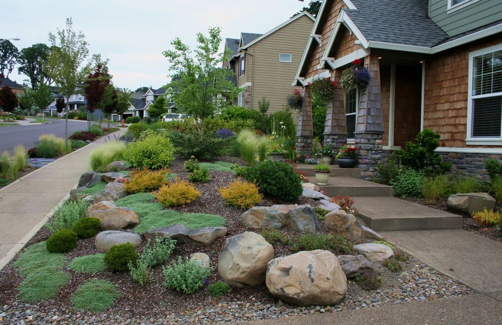 Image Result For Grass Free Front Yard Design Pacific Northwest