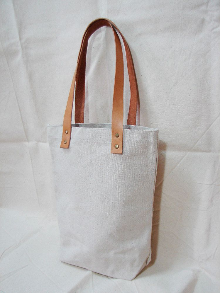 Leathinity – Blank Original / Black Canvas Tote Bag w/ Genuine ...