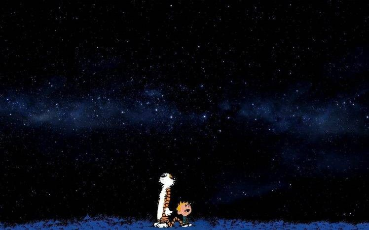 Calvin And Hobbes Wallpaper Inspirational Space Stars Blue Ics