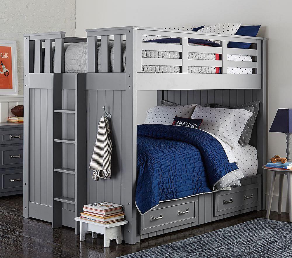 Belden Full Over Full Bunk Bed Simply White Bunk Beds Full Bunk Beds Kids Bunk Beds