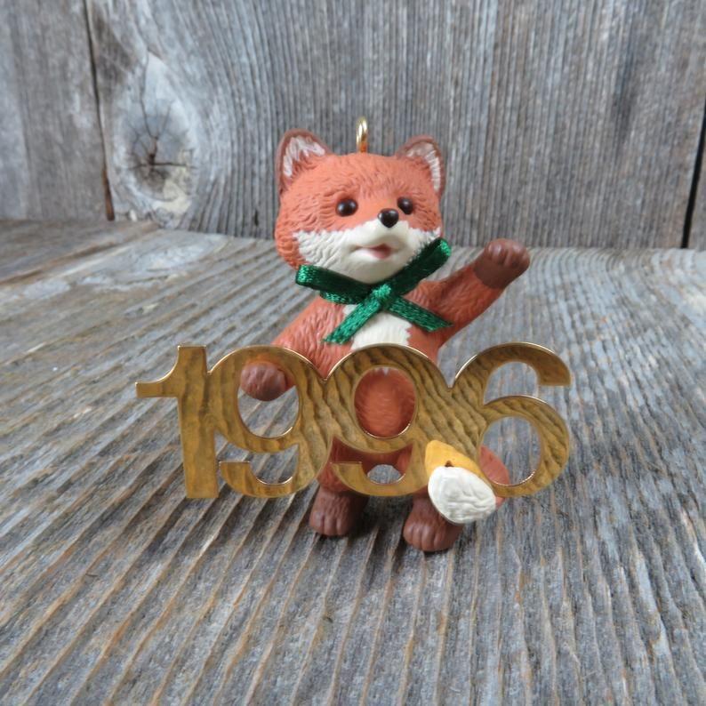 Vintage Red Fox Hallmark Keepsake Christmas Ornament 1996