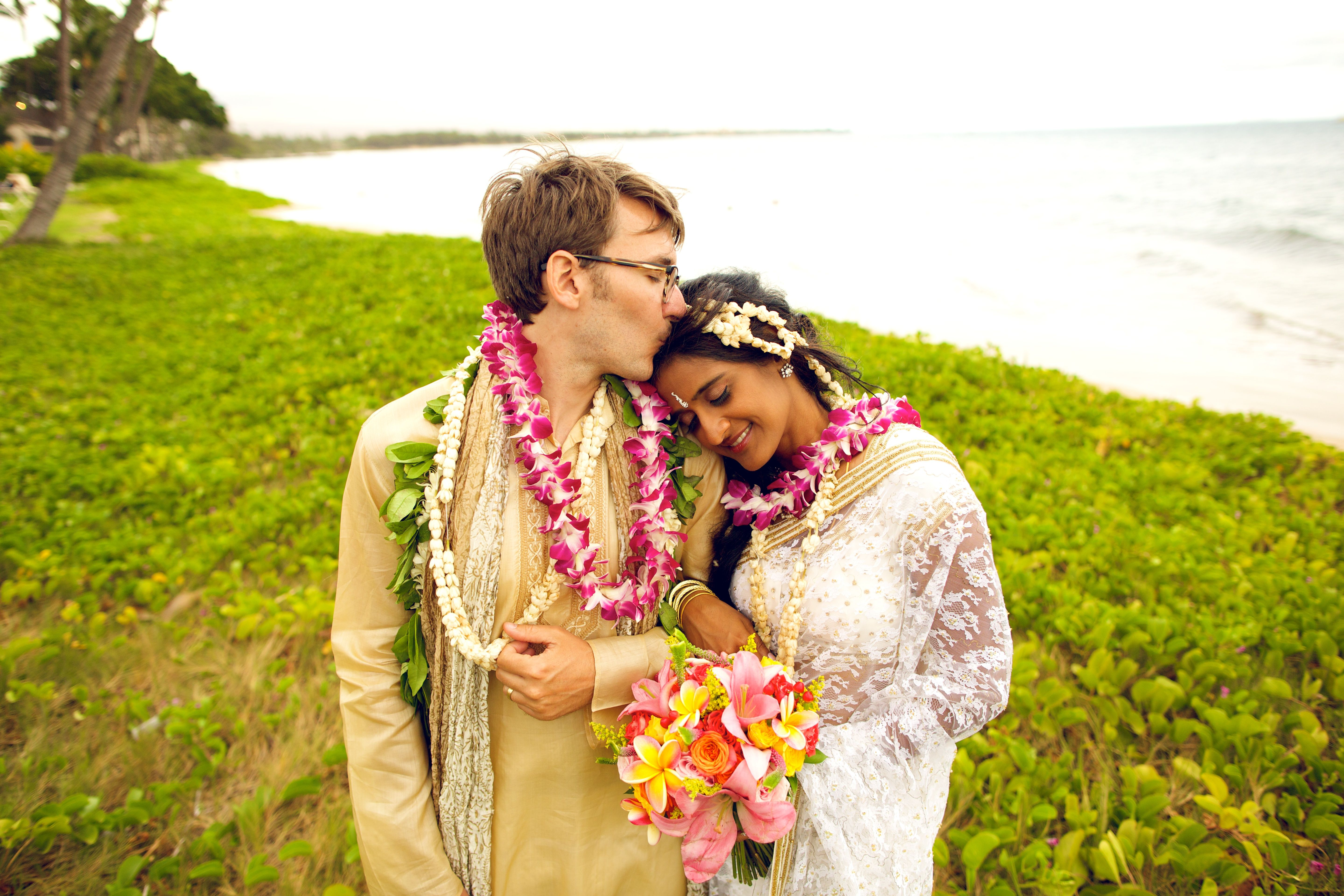 Colorful + Cultural + Maui +Wedding Bliss Wedding Design Bliss Flower Design Anna Kim Photography