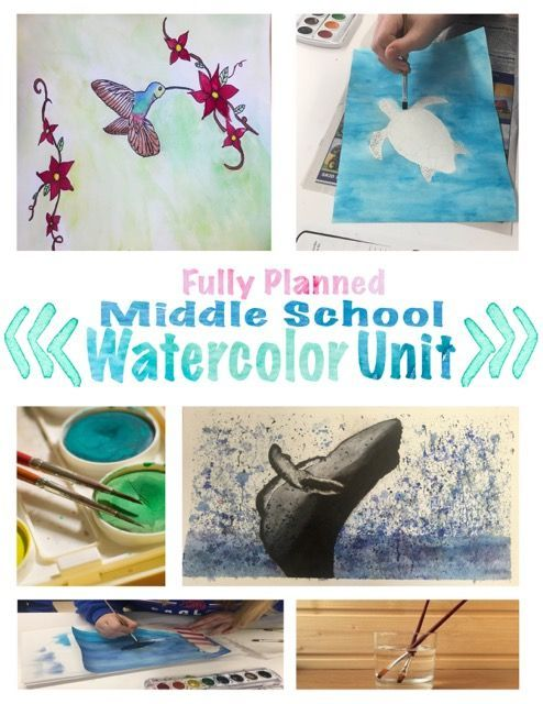 Middle School Watercolor Painting Unit Middle School Art