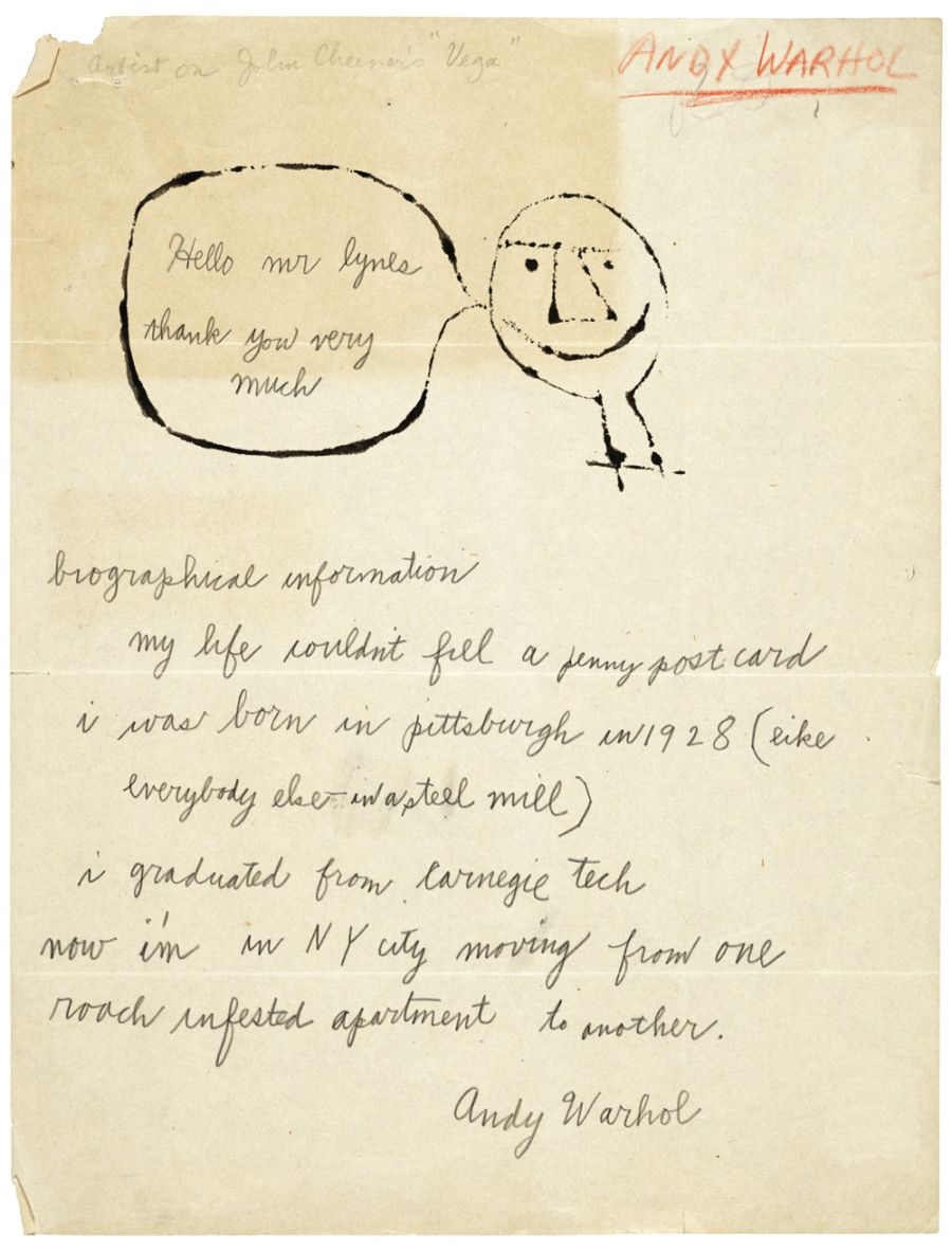 Handwritten Letters From Frida Kahlo Andy Warhol Alexander