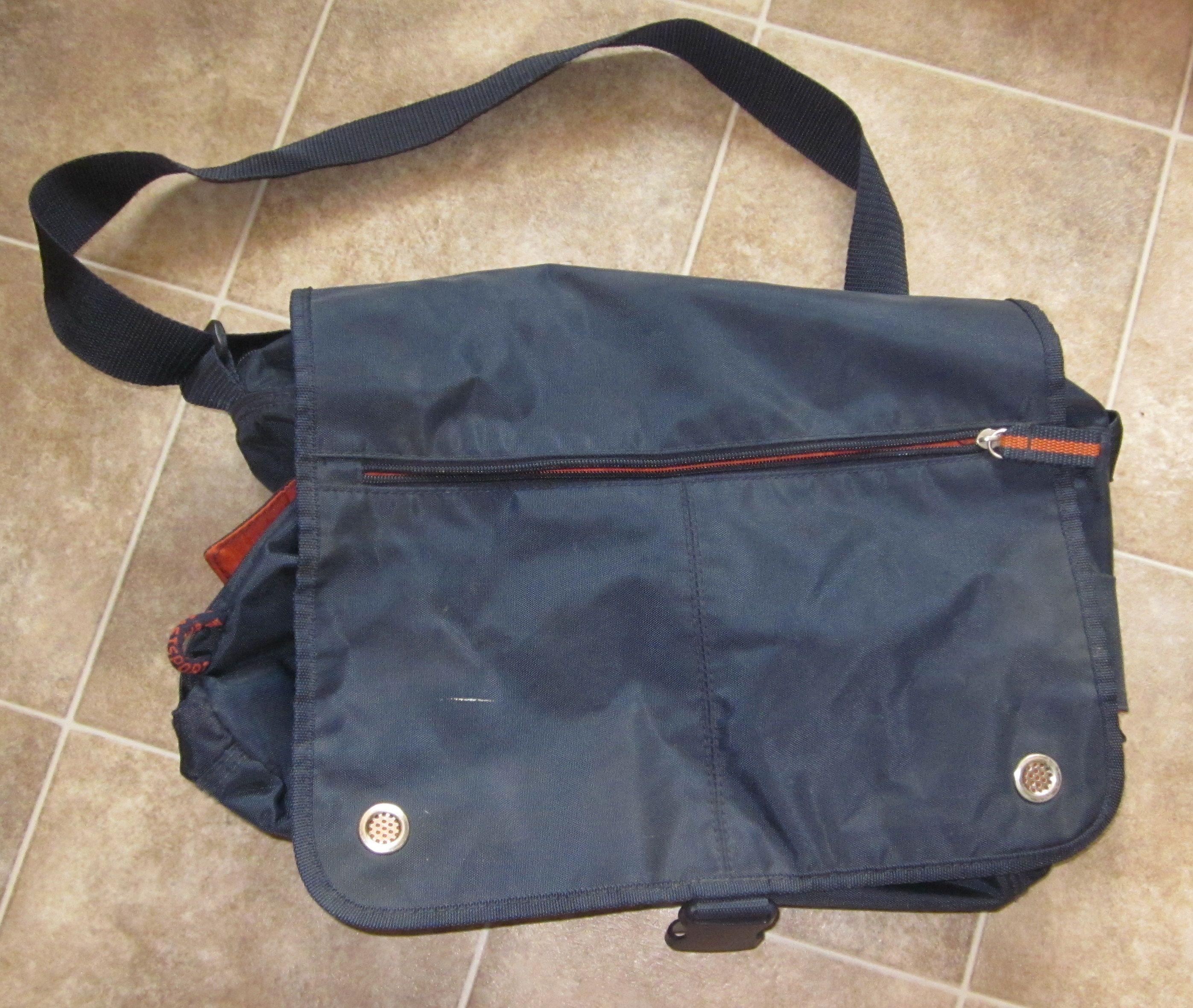 Navy Orange Messenger Bag In Sunny Variety S Garage Sale Cedar