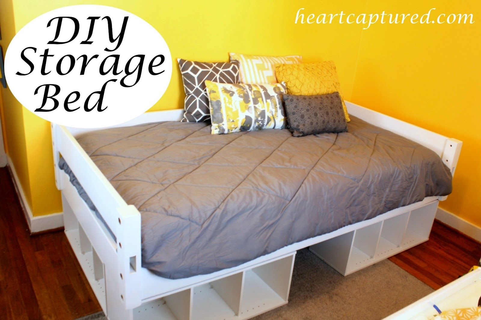 Building A Storage Bed Bed Frame With Storage Diy Twin Bed