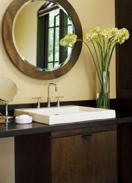 Suzie: Traditional Home - Modern zen bathroom! Overmount white sink ...