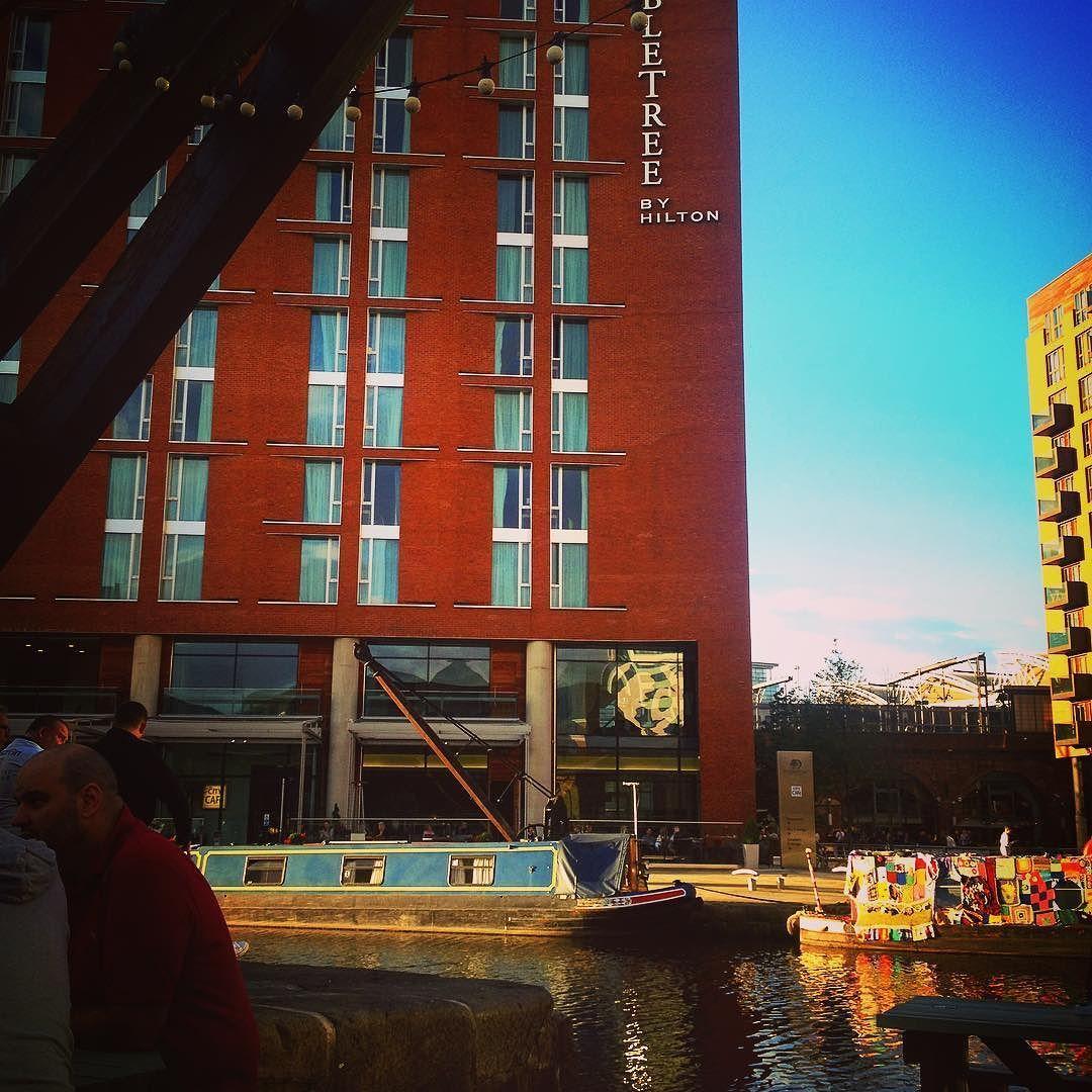 Last dinner in Leeds tonight down by the canal #Leeds #leedsuk #beer #food #travel
