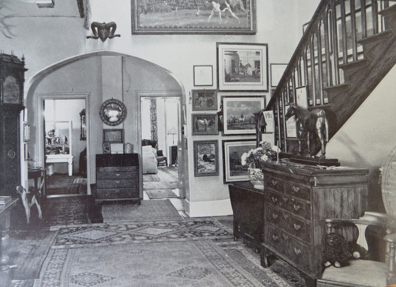 the interior of castle house, home to sir alfred and lady violet