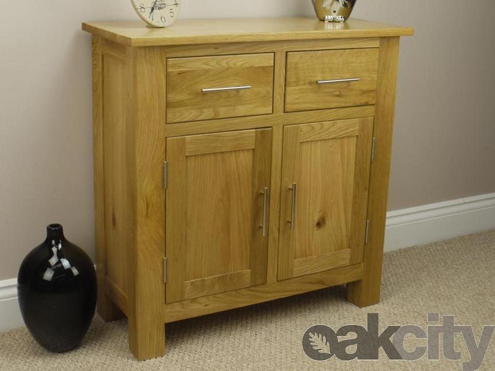 Oakland   Solid Chunky Light Oak Mini / Small Sideboard / Cabinet / Storage  Cupb