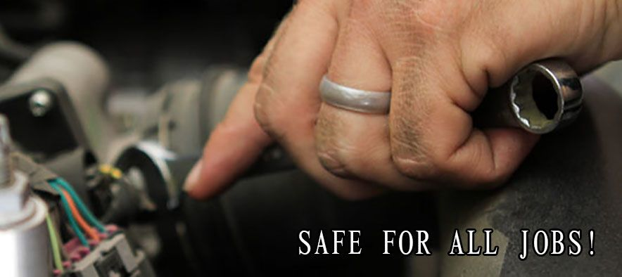 Safety ring since he works with motors and such Gettin hitched