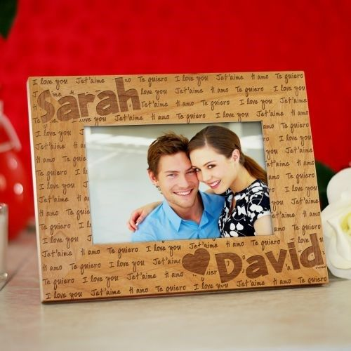 I Love You Personalized Wood Picture Frame Living Room Pinterest