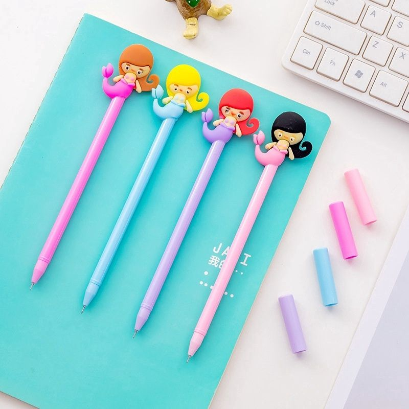 Colorful Mermaid Ballpoint Pen Kids Writing Pen Stationery Supplies Gift