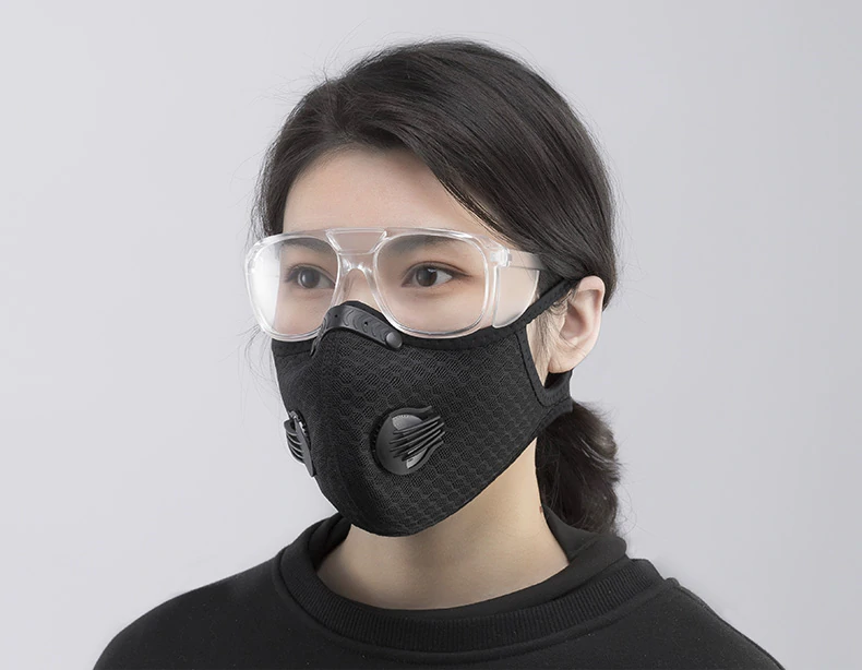 Cycling Face Mask Filter KN95 Anitfog Breathable