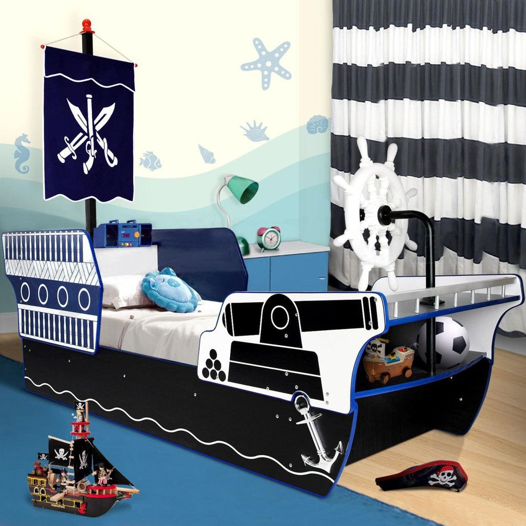 Easy Steps To Create Cool Pirate Ship Bed With Pictures Aida Homes Pirate Ship Bed Kids Bed Frames Kids Bedroom
