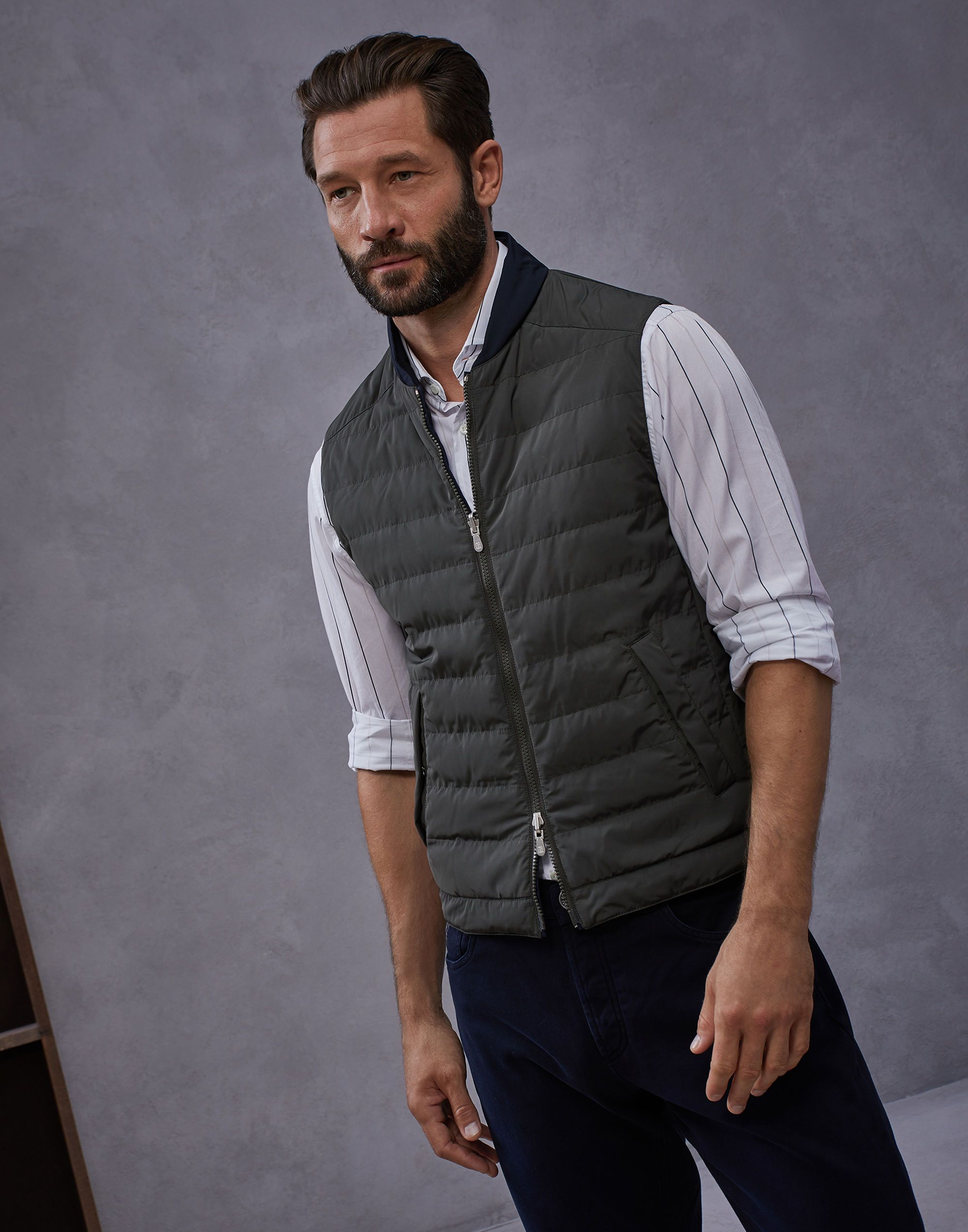 efe203ad588 Down Sleeveless Jacket Military Man 1 - Brunello Cucinelli | Mens ...