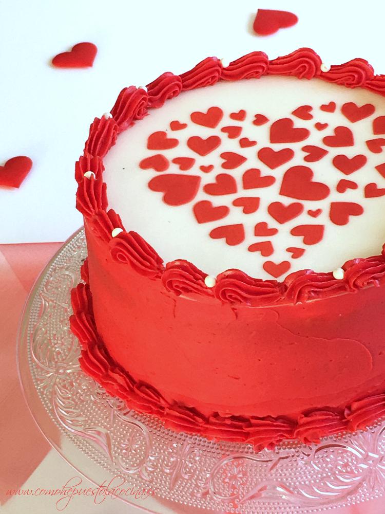 Tarta para San Valentín